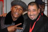 Floyd Mayweather Jr. (5x champion du monde) et Driss Chbili (co-fondateur Mov'Fight Club)