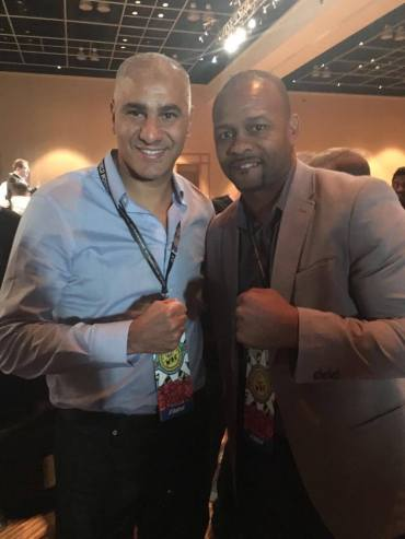 Roy Jones Jr. (4x Champion du monde) et Abdelilah Rahilou (co-fondateur Mov'Fight Club)